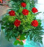 6 adet kirmizi gül buketi   Afyon online çiçek gönderme sipariş