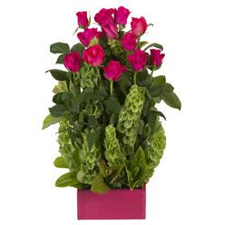 12 adet kirmizi gül aranjmani  Afyon çiçek mağazası , çiçekçi adresleri