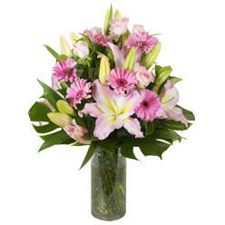 vazo içerisinde karisik mevsim çiçekleri  Afyon internetten çiçek siparişi