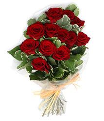 Afyon çiçek yolla , çiçek gönder , çiçekçi   9 lu kirmizi gül buketi.