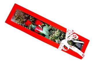 Afyon hediye çiçek yolla  Kutuda 3 adet gül