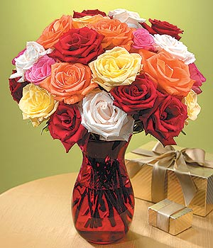 Afyon anneler günü çiçek yolla  13 adet renkli gül