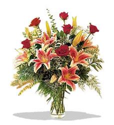 Afyon çiçek servisi , çiçekçi adresleri  Pembe Lilyum ve Gül