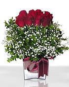 Afyon çiçek , çiçekçi , çiçekçilik  11 adet gül mika yada cam - anneler günü seçimi -