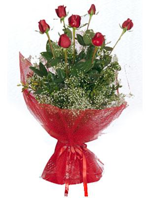 Afyon çiçek servisi , çiçekçi adresleri  7 adet gülden buket görsel sik sadelik