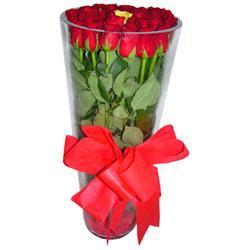 Afyon çiçek online çiçek siparişi  12 adet kirmizi gül cam yada mika vazo tanzim