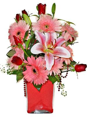 Afyon cicek , cicekci  karisik cam yada mika vazoda mevsim çiçekleri mevsim demeti