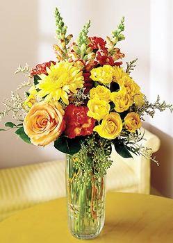 Afyon 14 şubat sevgililer günü çiçek  mika yada cam içerisinde karisik mevsim çiçekleri
