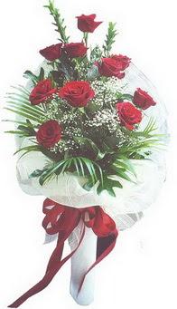 Afyon hediye çiçek yolla  10 adet kirmizi gülden buket tanzimi özel anlara