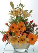 Afyon çiçek servisi , çiçekçi adresleri  cam yada mika vazo içinde karisik mevsim çiçekleri