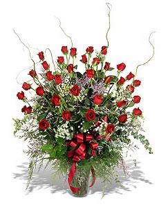 Afyon çiçek siparişi sitesi  33 adet kirmizi gül vazo içerisinde