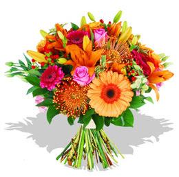 Afyon çiçekçi telefonları  Karisik kir çiçeklerinden görsel demet
