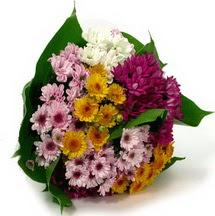 Afyon çiçekçi telefonları  Karisik kir çiçekleri demeti herkeze