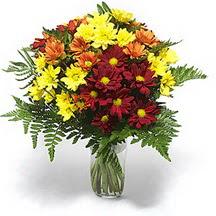 Afyon çiçek siparişi sitesi  Karisik çiçeklerden mevsim vazosu