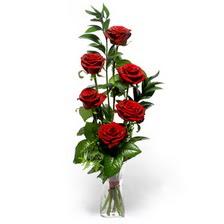 Afyon uluslararası çiçek gönderme  mika yada cam vazoda 6 adet essiz gül