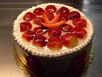 Meyvali yas pasta 4 ile 6 kisilik pasta  Afyon çiçek siparişi sitesi