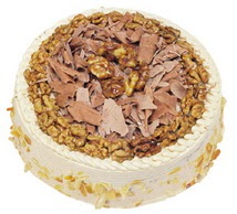 Karamelli 4 ile 6 kisilik yas pasta  Afyon çiçek yolla