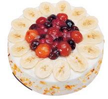 Meyvali 4 ile 6 kisilik yas pasta leziz  Afyon ucuz çiçek gönder