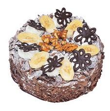 Muzlu çikolatali yas pasta 4 ile 6 kisilik   Afyon uluslararası çiçek gönderme