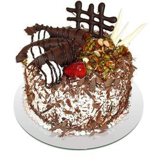 4 ile 6 kisilik çikolatali yas pasta  Afyon kaliteli taze ve ucuz çiçekler
