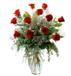 Vazo içerisinde 11 kirmizi gül  Afyon çiçek siparişi vermek