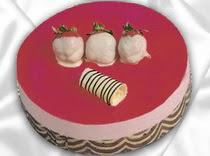 pasta siparisi 4 ile 6 kisilik yas pasta çilekli yaspasta  Afyon çiçek servisi , çiçekçi adresleri