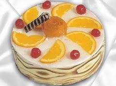 lezzetli pasta satisi 4 ile 6 kisilik yas pasta portakalli pasta  Afyon çiçekçi mağazası