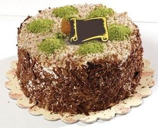 pasta gönderme 4 ile 6 kisilik çikolatali yas pasta  Afyon çiçek satışı