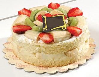 pasta siparisi 4 ile 6 kisilik karisik meyvali yas pasta  Afyon çiçek servisi , çiçekçi adresleri