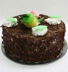 4 ile 6 kisilik yas pasta çikolatali leziz pastane ürünü  Afyon cicekciler , cicek siparisi