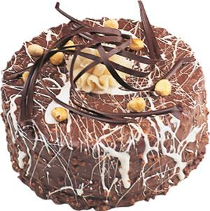 pasta satisi 4 ile 6 kisilik çikolatali yas pasta  Afyon İnternetten çiçek siparişi