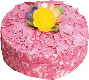 pasta siparisi 4 ile 6 kisilik framboazli yas pasta  Afyon çiçek yolla