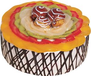 pasta siparisi 4 ile 6 kisilik meyvali yas pasta  Afyon çiçek satışı