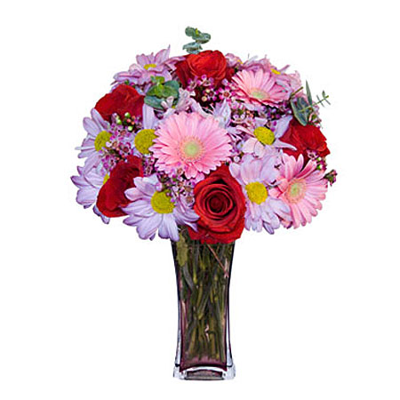 Görsel hediye karisik cam mevsim demeti  Afyon çiçekçi mağazası