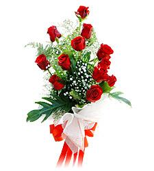 11 adet kirmizi güllerden görsel sölen buket  Afyon çiçek siparişi vermek