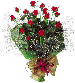 11 adet kirmizi gül buketi özel hediyelik  Afyon çiçekçi mağazası