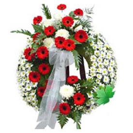 Cenaze çelengi cenaze çiçek modeli  Afyon uluslararası çiçek gönderme