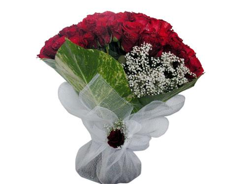 25 adet kirmizi gül görsel çiçek modeli  Afyon çiçek servisi , çiçekçi adresleri