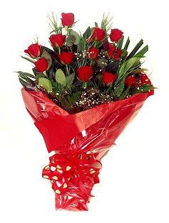 12 adet kirmizi gül buketi  Afyon çiçekçiler