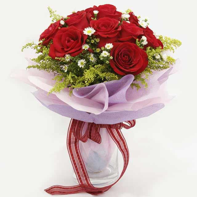 Çiçek gönderme estetikliginiz 11 gül buket  Afyon çiçekçi mağazası