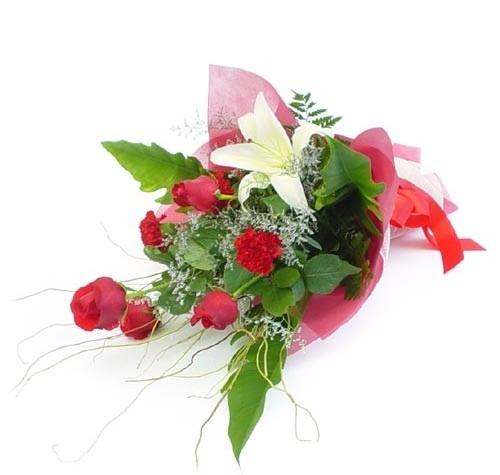 Mevsim çiçeklerinden karisik buket  Afyon cicek , cicekci
