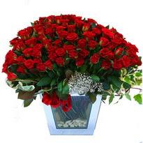Afyon çiçekçiler   101 adet kirmizi gül aranjmani
