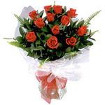 Afyon çiçek , çiçekçi , çiçekçilik  9 adet güzel bir gül buketi