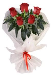 5 adet kirmizi gül buketi  Afyon çiçekçiler