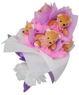 9 adet ayiciktan buket  Afyon hediye sevgilime hediye çiçek