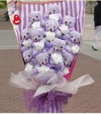11 adet pelus ayicik buketi  Afyon çiçek gönderme sitemiz güvenlidir