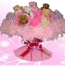 11 adet pelus ayicik buketi  Afyon çiçek satışı