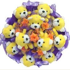 11 adet pelus ayicik buketi  Afyon çiçek mağazası , çiçekçi adresleri