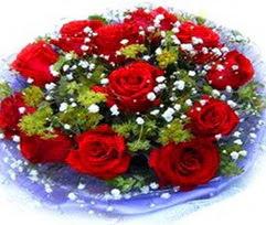 9 adet kirmizi güllerden buket  Afyon çiçekçi telefonları