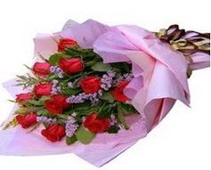 11 adet kirmizi güllerden görsel buket  Afyon çiçek gönderme sitemiz güvenlidir
